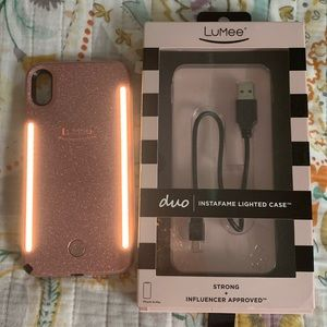 LuMee duo instafame lighted case Xs max